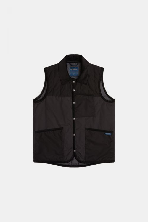 MIXED FABRIC GILET