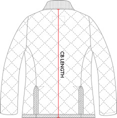 Ladies Jacket Sizes - Back